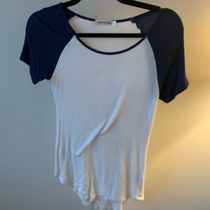 Navy Blue Sleeved Baseball Tee